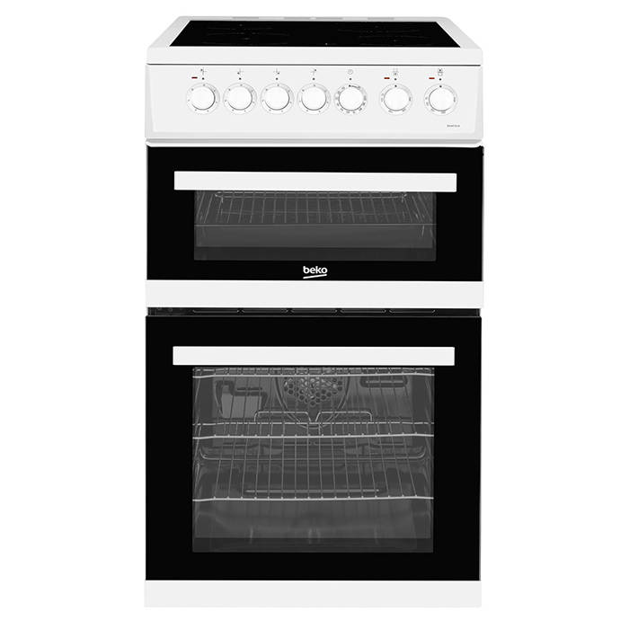 EDVC503W Beko Electric Cooker with Double Oven and Ceramic Hob 1