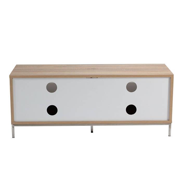 ADCH1135 Alphason TV Cabinet 1135mm Chaplin White Light Oak 4