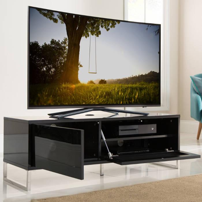 ADHE 1200 BLK Black Gloss Alphason Helium TV Stand 1