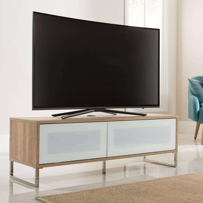 ADHE 1200 Light Oak Helium Alphason TV stand