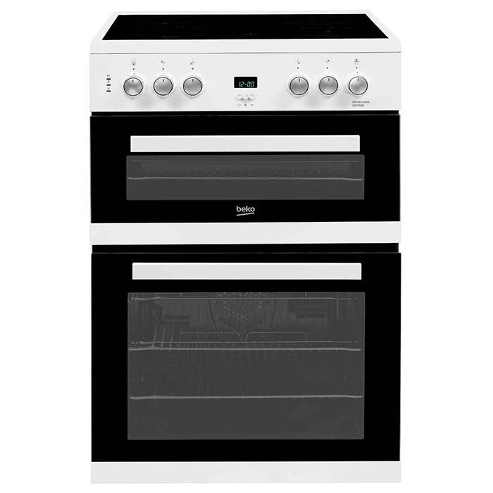 EDC633W Beko White Electric Cooker Double Oven and Grill 1