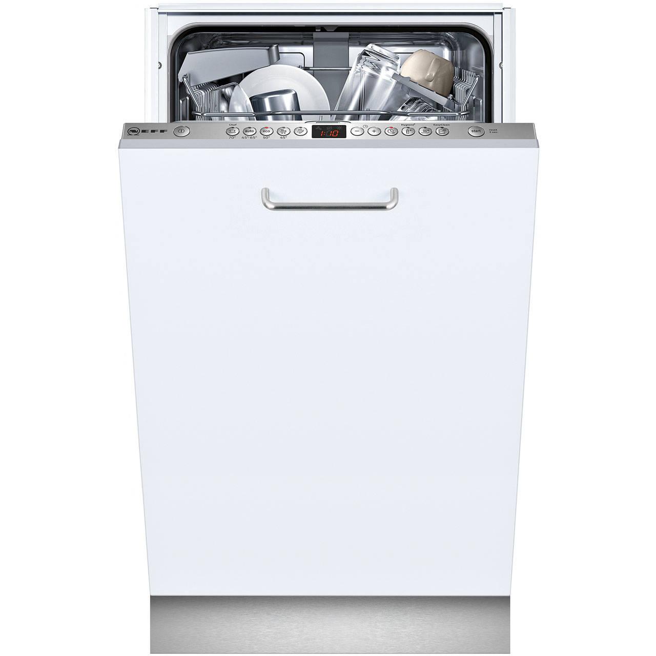Neff S583C50XOG slimline integrated dishwasher