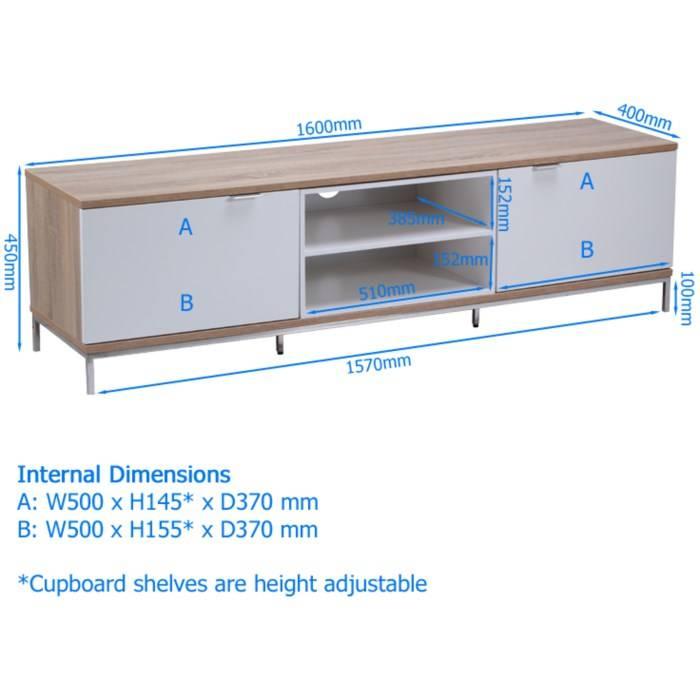 Alphason ADCH1600WHT Shelf Unit