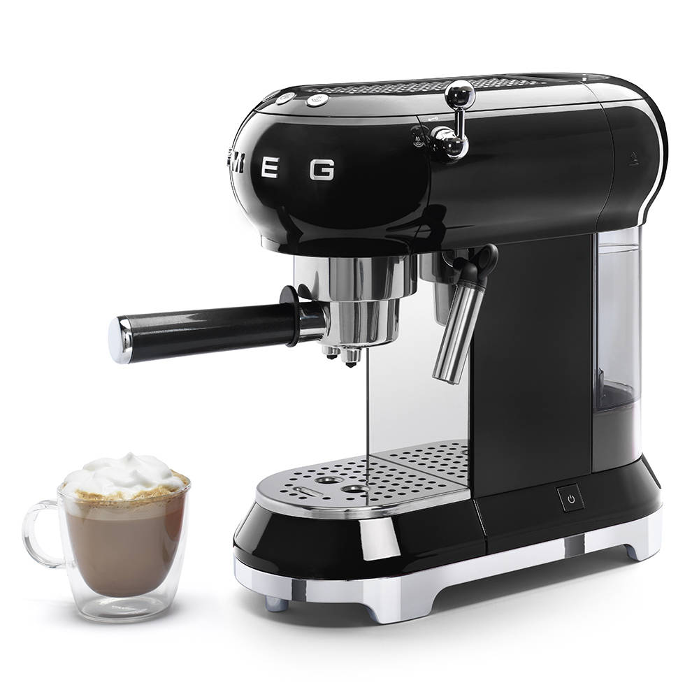 Smeg ECF01CBLUK black espresso coffee machine