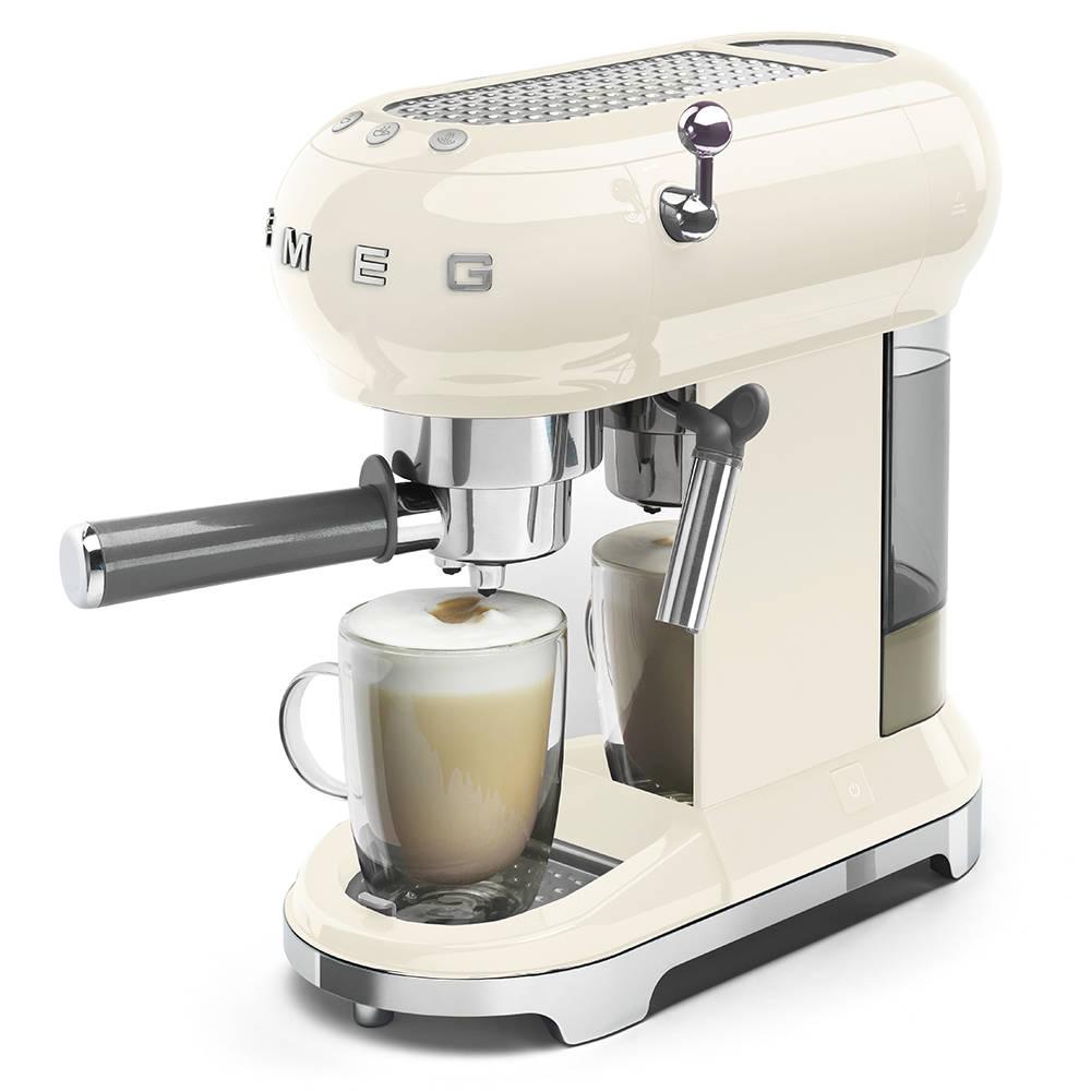 Smeg ECF01CRUK cream espresso coffee machine