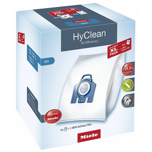 Miele Allergy XL Pack HyClean 3D Efficiency GN 8 dustbags and 1 HEPA AirClean filter at a discount price