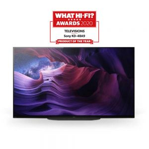 Sony KD48A9BUT TV Product of the year award - What HI-FI 2020