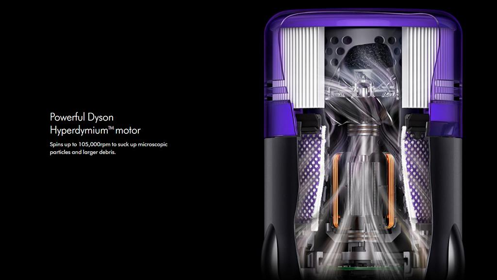 Powerful Dyson Hyperdymium motor