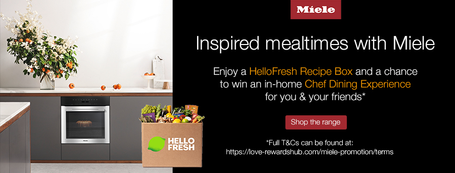 Free HelloFresh recipe box with selected Miele ovens