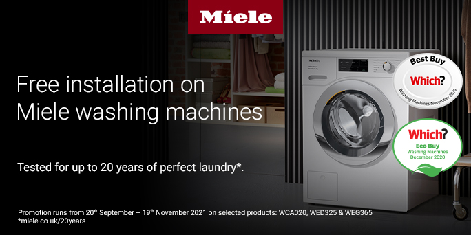 Miele free washing machine installation