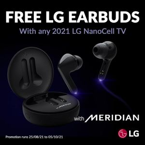 Free LG earbuds with selected LG TVs