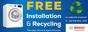Bosch Free install and recycling