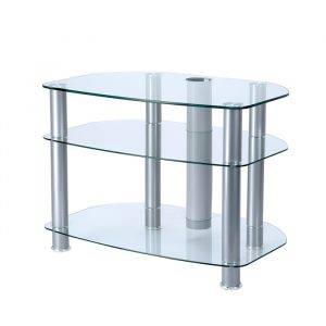 "Alphason Designs AVCR323G Glass Lcd Stand Upto 32"" Sona Curved Clear"