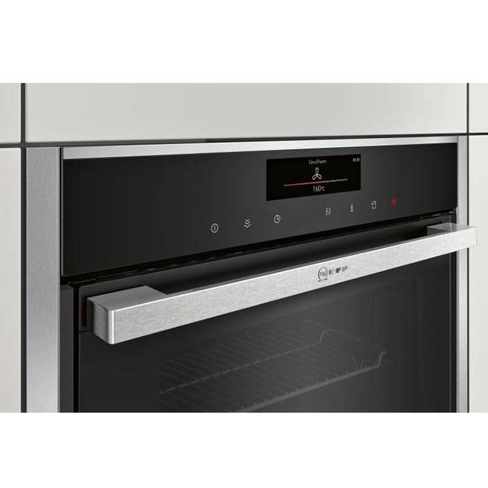 neff b48ft78n0b built in oven with full steam and slide. Black Bedroom Furniture Sets. Home Design Ideas