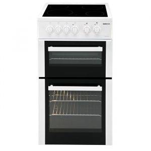 Beko BDVC563AW Freestanding Cooker Ceramic 50cm Double Oven