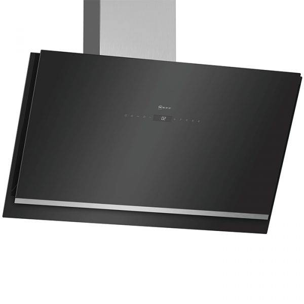 Neff D96IKW1S0B 90cm Angled Chimney Hood, with Touch Controls & Illuminated sensors Ambient light