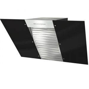 Miele DA6096W Black Wing Wall Mounted Cooker Hood