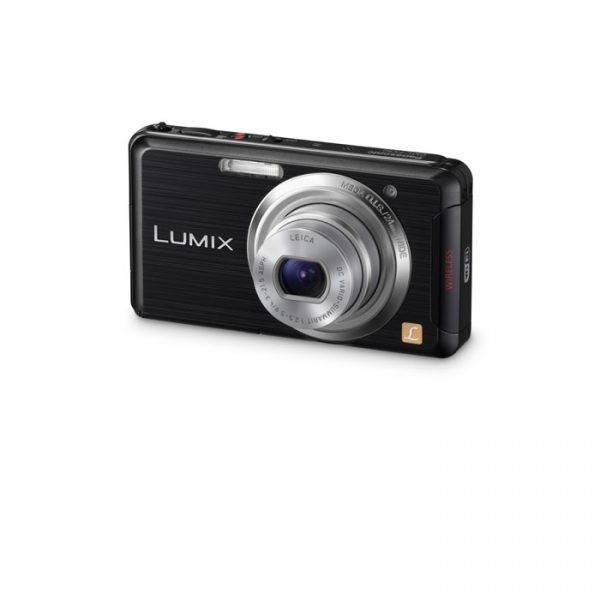 Panasonic DMCFX90EBK Slim Digital Still Camera with Wifi Function FHD Movie 12.1MP 5x Optical Zoom 24mm Wide-Angle Lens