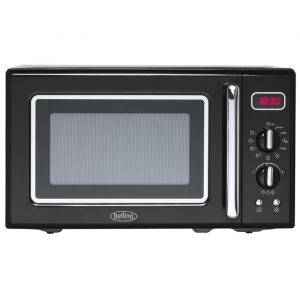 Belling FMR2080S-BLK 20 Litre, 800W Retro Style Microwave
