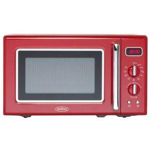 Belling FMR2080S-RED 20 Litre, 800W Retro Style Microwave