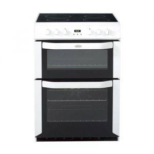 Belling FSE60DOPW Electric Cooker Double Oven Freestanding 60cm Ceramic