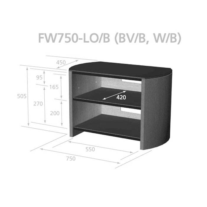 Alphason Designs FW750WB LCD Plasma Stand For Up To 37
