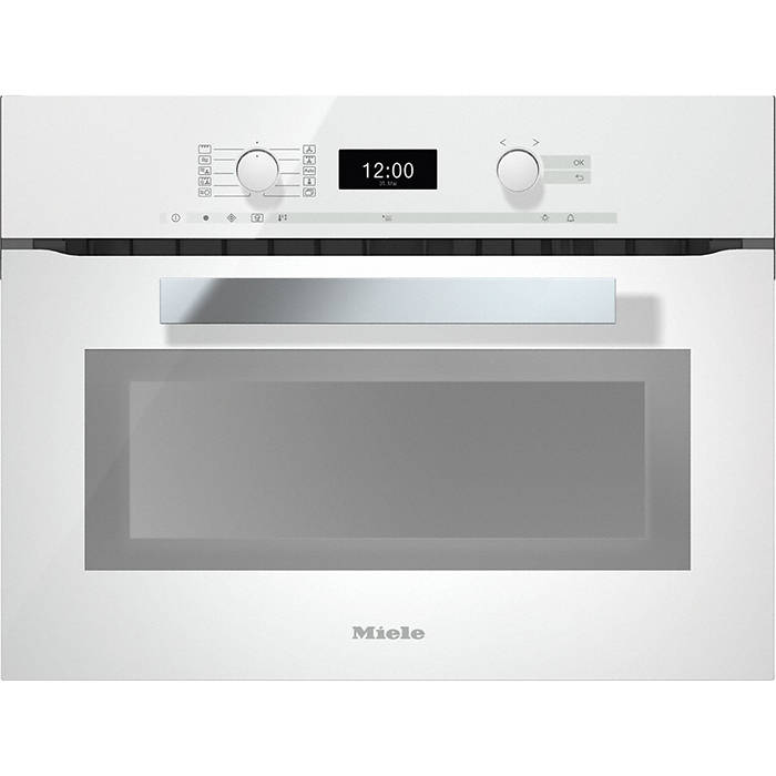 Miele Built In Microwave Combination Oven: Miele H6400BMBRWS PureLine 45cm Microwave Combination Oven