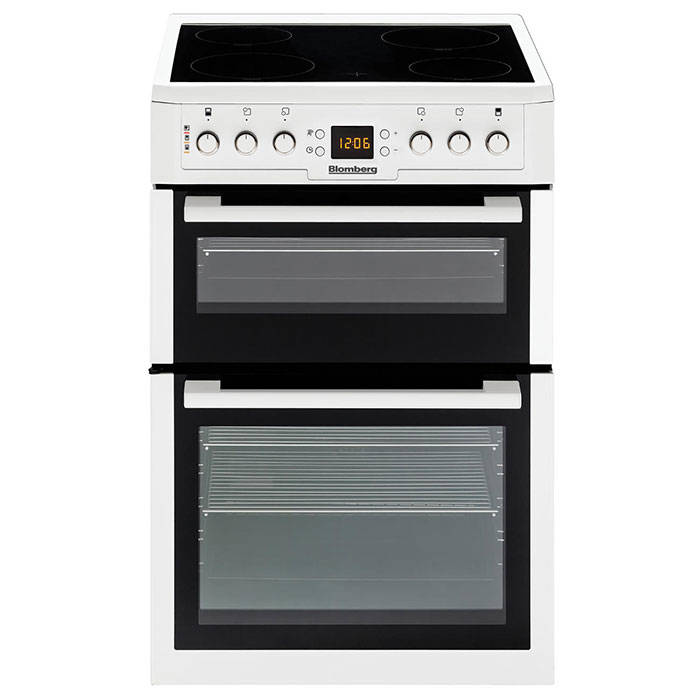Blomberg Hkn61w 60cm Double Oven Electric Cooker Gerald