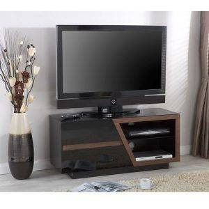Jual JF020WB Lcd TV Cabinet Walnut and Black Gloss