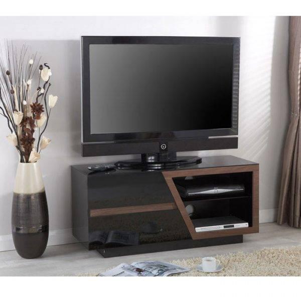 Jual JF020WB Lcd TV Cabinet Walnut and Black Gloss