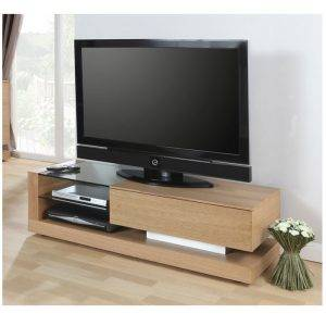 Jual JF613TVO Lcd TV Cabinet Oak with Black Glass