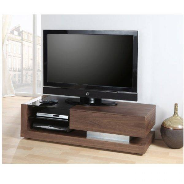 Jual JF613TVW Lcd TV Cabinet Walnut with Black Glass