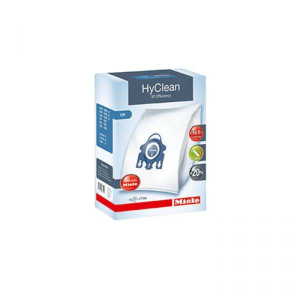 Miele GN Hyclean 3D Efficiency Dustbag - 4 Bags, 2 Filters