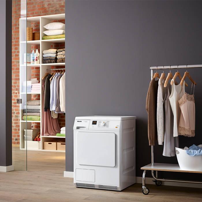 Miele TDA150C Classic 7Kg Condenser Tumble Dryer With Drum Lighting - Slanted Facia