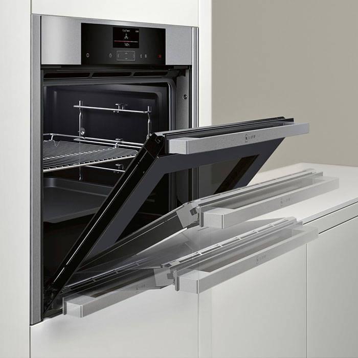Neff b55cs22n0b built in single oven with slidehide door for Neff backofen set