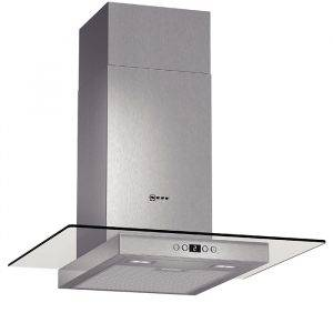 Neff D86EH52N0B Chimney Hood in Stainless Steel With Glass Canopy Sides