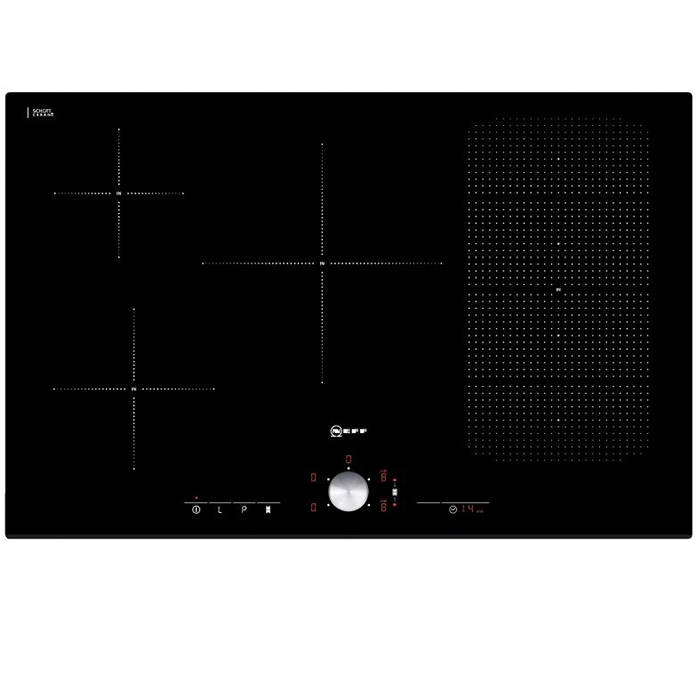 neff t51t86x2 75cm electric induction hob with 5 zones. Black Bedroom Furniture Sets. Home Design Ideas