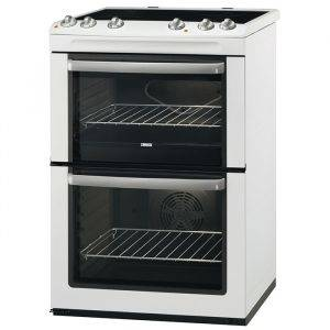 Zanussi ZCV668MW 60cm Double Oven Electric Cooker