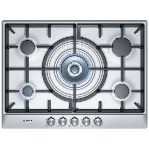 Bosch PCQ715B90E 70cm wide Gas Hob Wok Burner + Cast Iron Supports
