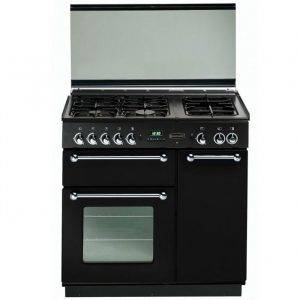 Rangemaster RMS90DFFBLPDC 72840 Rangemaster 90CM Black with Chrome Trim