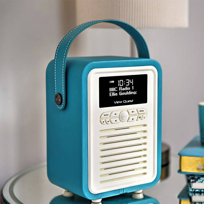 view quest retro mini tl retro mini dab dab fm radio with. Black Bedroom Furniture Sets. Home Design Ideas