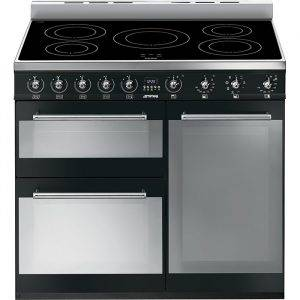 Smeg SY93IBL 90cm 3 Cavity Symphony Cooker with Induction Hob