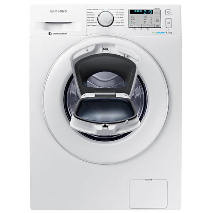 Samsung WW80K5413WW AddWash 8kg 1400 Spin Washing Machine ...