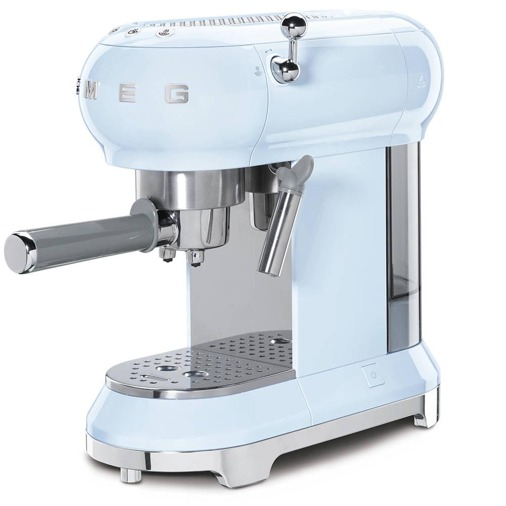 Smeg ECF01PBUK Espressco Coffee Machine 50's Retro Style ...
