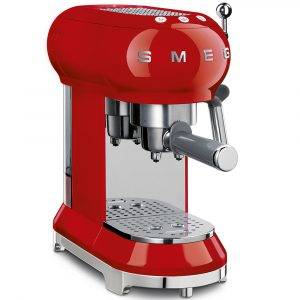 Smeg ECF01RDUK Espressco Coffee Machine 50's Retro Style