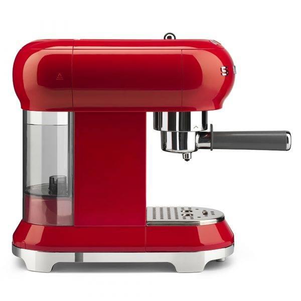 Smeg ECF01RDUK Espressco Coffee Machine 50's Retro Style