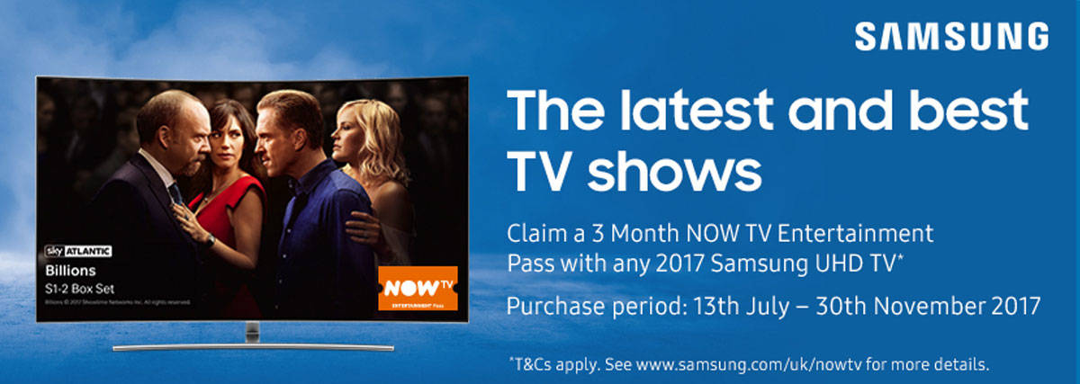 Free Now TV with Samsung UHD TVs