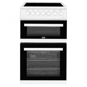 Beko EDVC503W 50cm Electric Cooker with Ceramic Hob