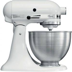 KitchenAid 5K45SSBWH Stand Mixer with 4.3L Mixing Bowl White