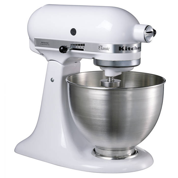 Kitchenaid 5k45ssbwh Stand Mixer With 4 3l Mixing Bowl White